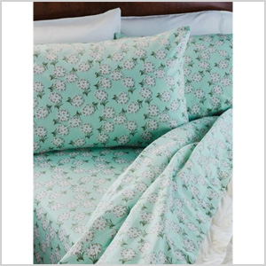 Winter Blossom Flannel Sheets