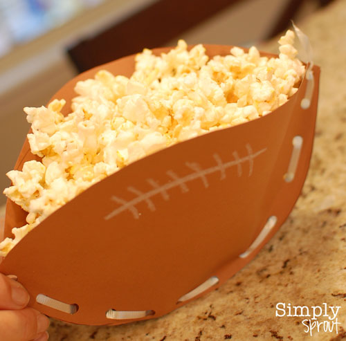 Football snack-bowl craft