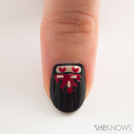 Ornate opera manicure inspired by Valentino