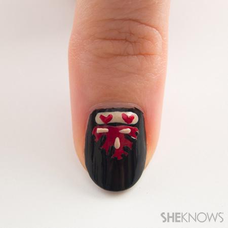 Ornate opera manicure inspired by Valentino