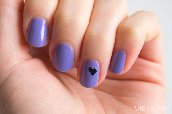 Nail art tip: How to create the perfect heart