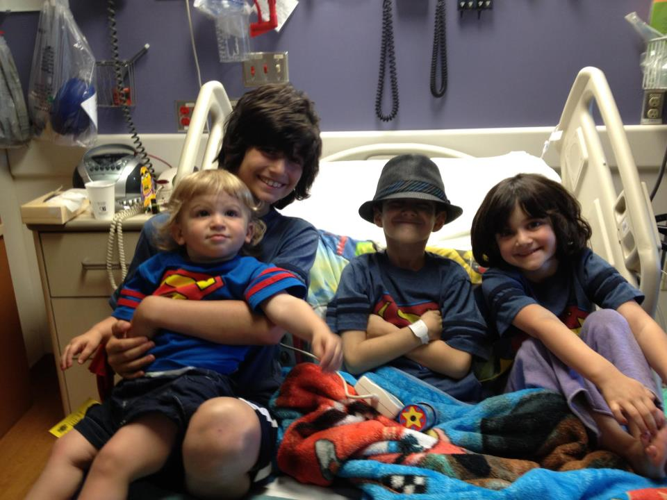 36Rabbis- Sam with his siblings in the hospital