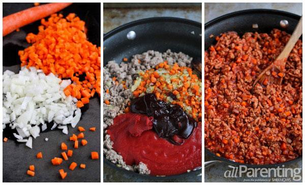 allParenting Spicy turkey sloppy Joes prep collage