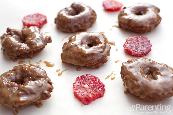 allParenting Blood orange donuts with brown sugar glaze