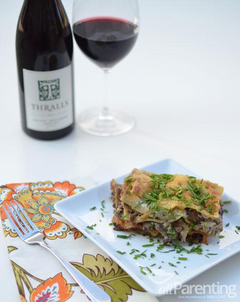 allParenting Mushroom lasagna