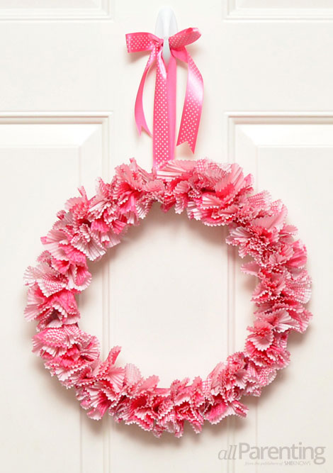 allParenting Valentine's Day wreath