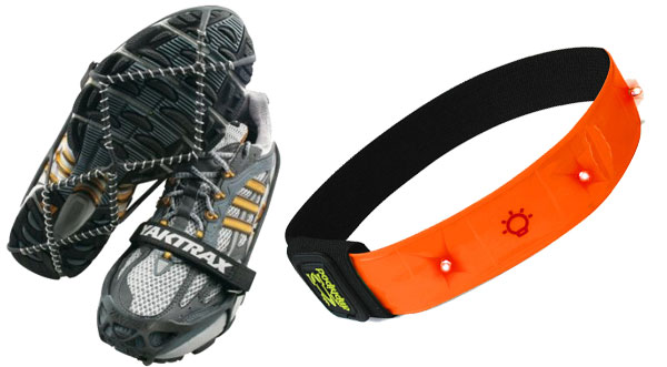 Cold weather safety- cleats and reflective armband