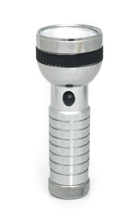 isolated flashlight