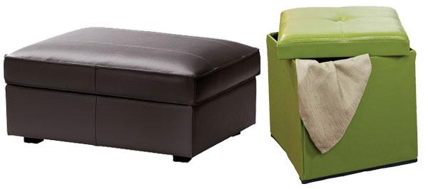 Dual purpose furniture- ottomans