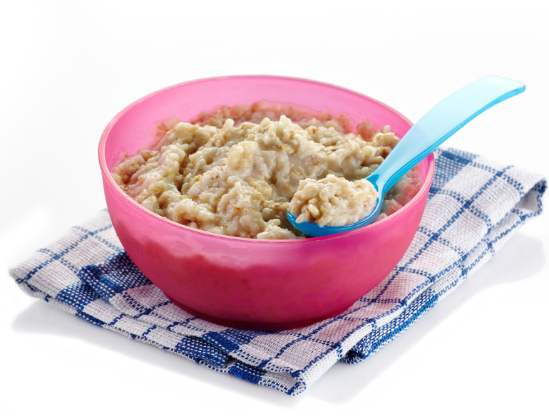 child's bowl of oatmeal