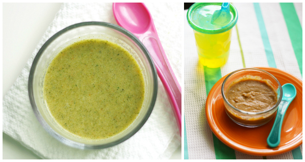 Broccoli and bean soup collage