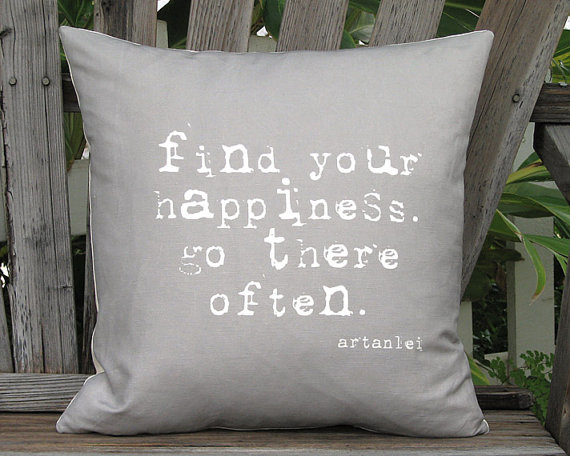 Find Your Happiness Pillow