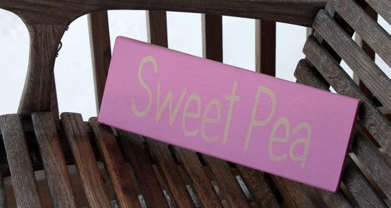 Sweet Pea handpainted sign