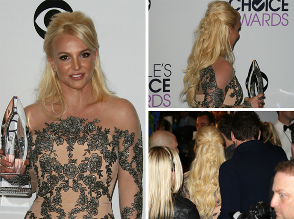 Celeb Hairstyle of the Week: Britney Spears at the 2014 People's Choice Awards