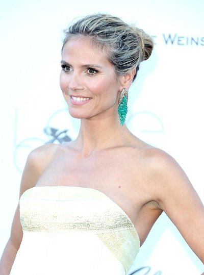 Heidi Klum's knotted hairstyle