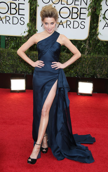 Amber Heard at the 2014 Golden Globes