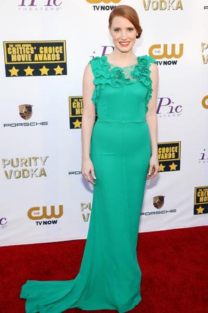 Jessica Chastain at the Critics Choice Awards