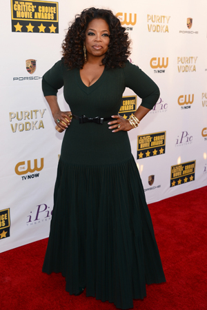 Oprah at the Critics Choice Awards