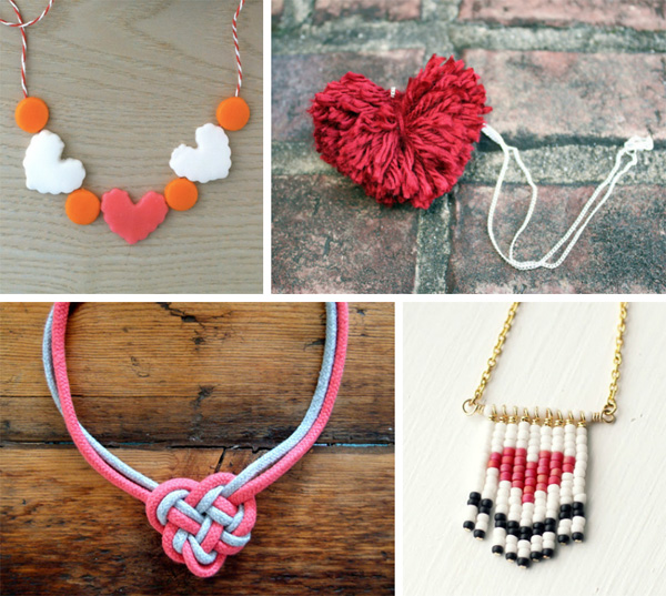 DIY heart-shaped necklaces for your Valentine