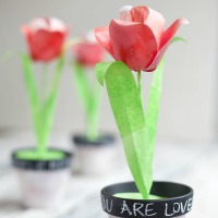Craft a paper bouquet