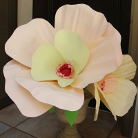Over-sized paper flowers