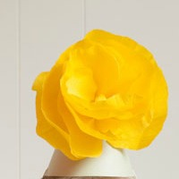 Giant paper flower hats