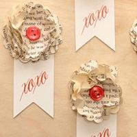 Paper flower ribbons