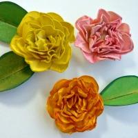 Card stock flowers