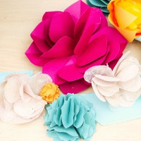 Art paper flowers
