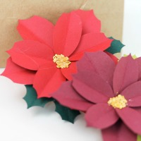 Paper Punched Poinsettias
