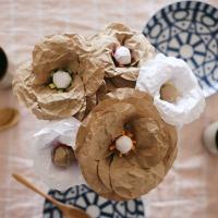 Brown paper bag flowers