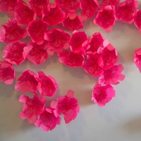 Photo booth paper wallflowers