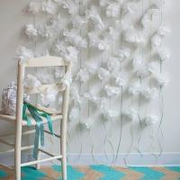 Napkin flower garland