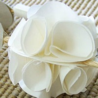 Paper-made flowers<