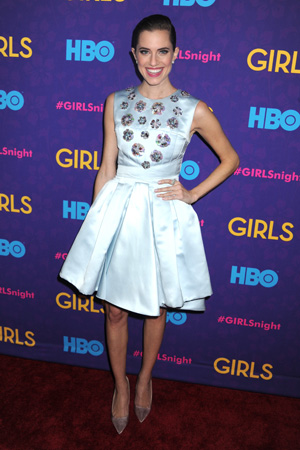 Allison Williams at Girls season three premiere