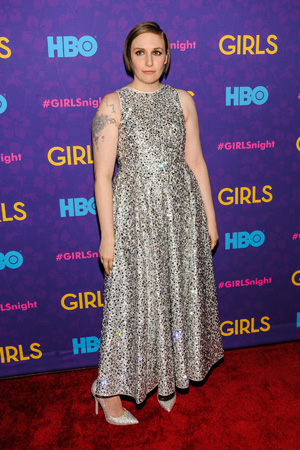 Lena Dunham at Girls season three premiere