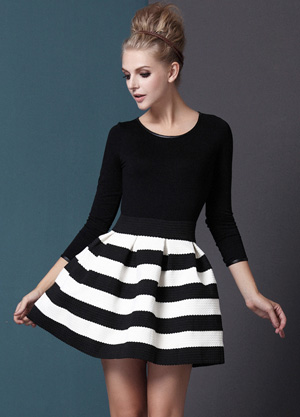 Shop the look: Sheinside Black White Striped Dress (sheinside.com, $37)