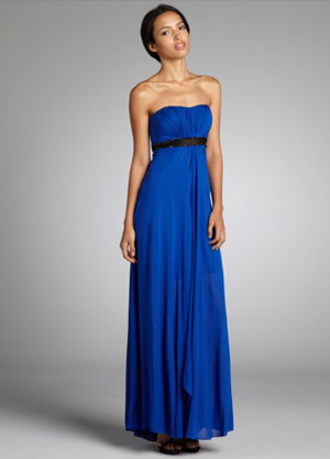 Shop the look: Aidan Mattox Blue Evening Gown (bluefly.com, $154)