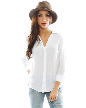 Shop the look: Bella Dahl City Shirt in White (singer22.com, $106)