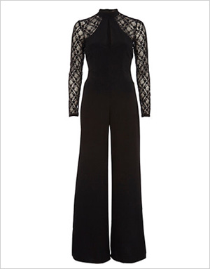 Shop the look: River Island Black Lace Jumpsuit (us.riverisland.com, $100)