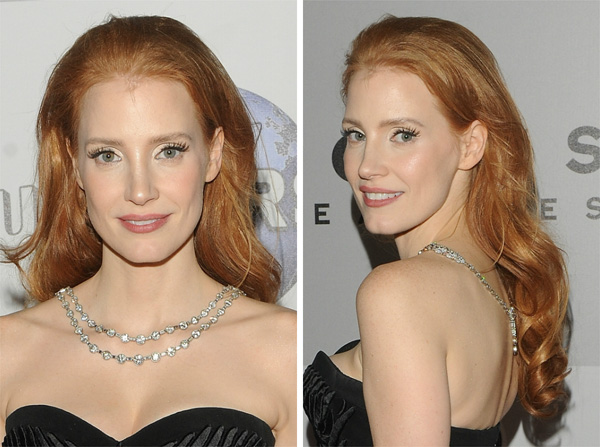 Get the look: Jessica Chastain's 2014 Golden Globes hair