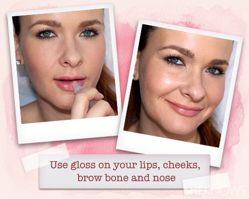 Gloss to brighten face
