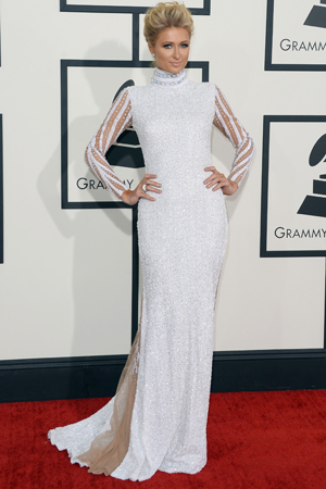 Paris Hilton 2014 Grammy Awards