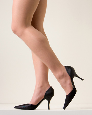 Woman with great legs wearing heels