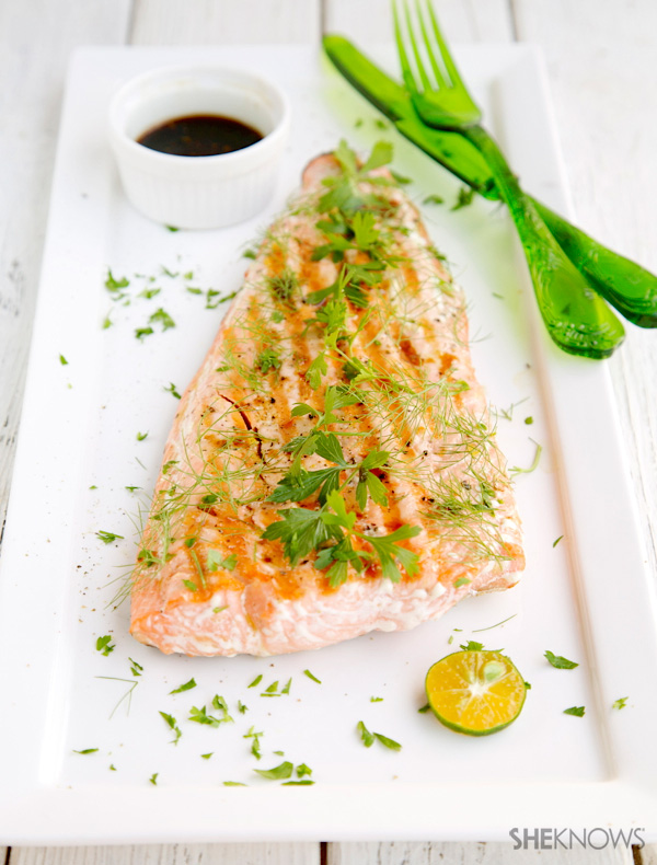 Griddle salmon with soy ginger sauce recipe