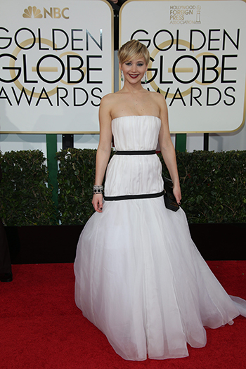 Jennifer Lawrence at the 2014 Golden Globes