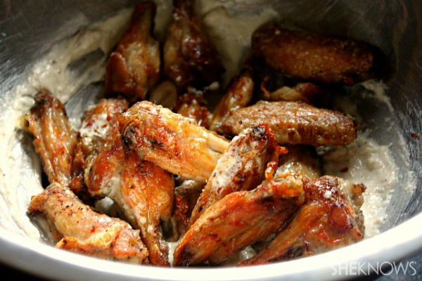 Restaurant-style wings at home