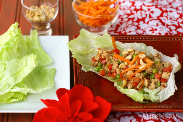 Quick & easy tofu and veggie lettuce wraps