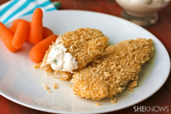 Gluten-free Friday: Tortilla chip-crusted baked chicken tenders with ...