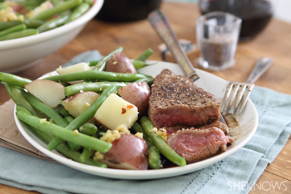 Gourmet steak and potatoes
